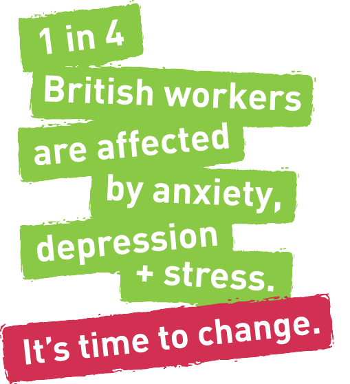 1 in 4 british workers are affected by anxiety, depression and stress